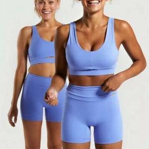 Whitney Simmons X Gymshark Sports Bra Blue (Small)